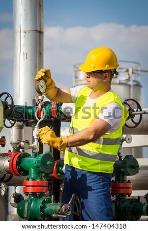 Oil engineer - stock photo