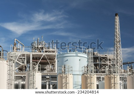 Oil factory - stock photo