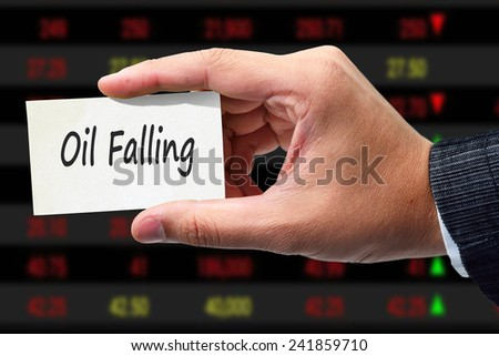 Oil Falling - stock photo