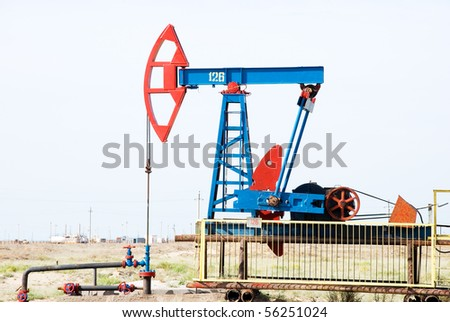 Oil field - stock photo
