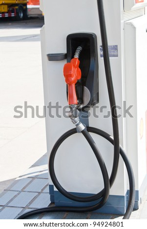 Oil filling tool - stock photo