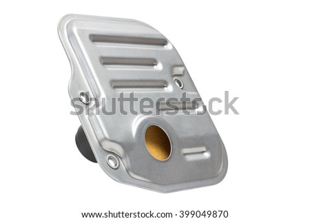 oil filter (strainer) in an automatic transmission. horizontal arrangement of the picture