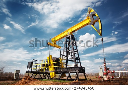 oil industry - stock photo