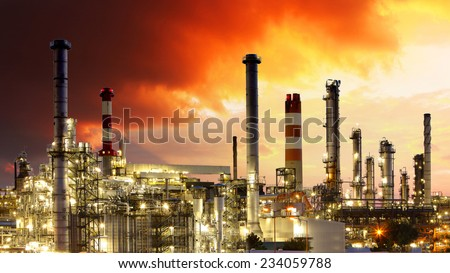 Oil Industry - Gas Refinery - stock photo