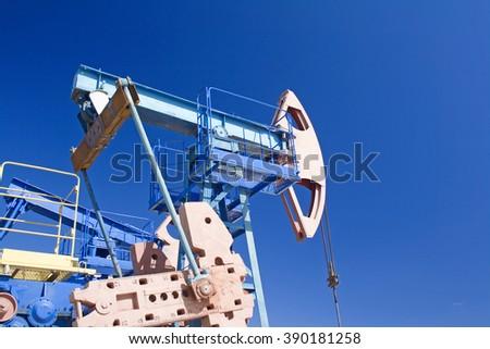 Oil industry scene - stock photo