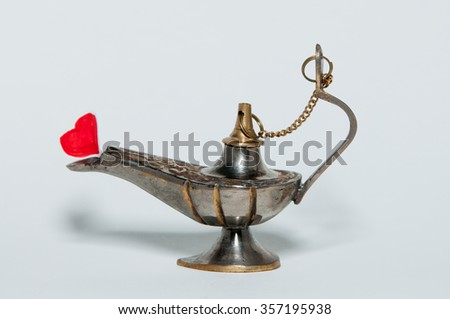 oil lamp with the heart