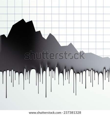 Oil loss of price graphic - stock photo