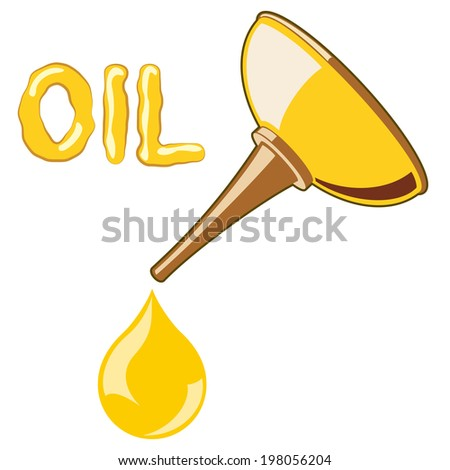 Oil Lubricator with oil on white background - stock photo