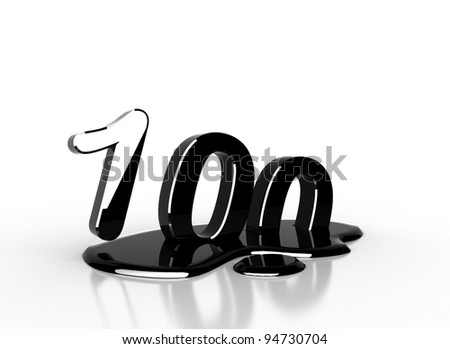 oil 100 number - stock photo