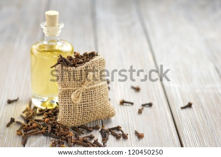Oil of cloves - stock photo