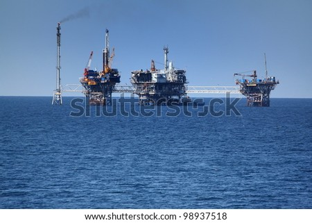 Oil offshore - stock photo