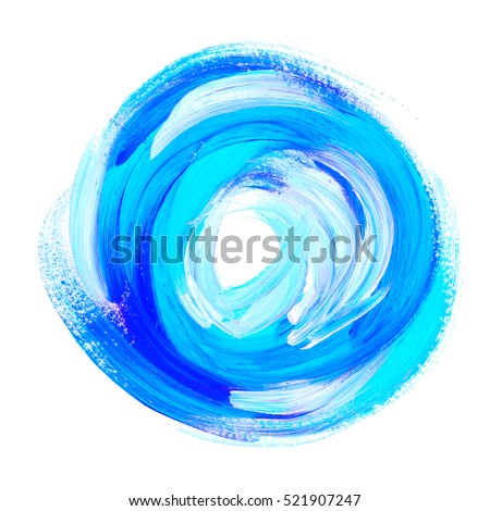 Round brush stock images royalty free images vectors - Pintura azul turquesa ...