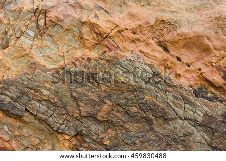 Oil paint Marble with brown tint detail of the rock wall on blur background