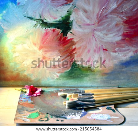 Oil paint painting draw overlay color art style art.
