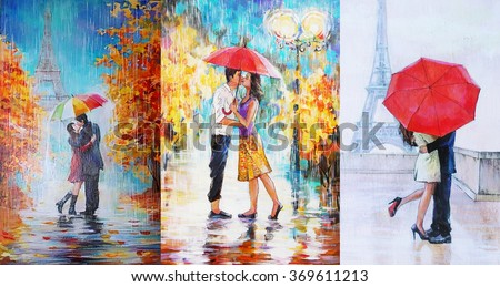 Famous Painting Of Girl With Red Umbrella