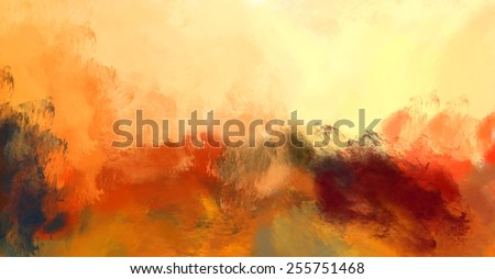 oil painting abstract yellow background - stock photo