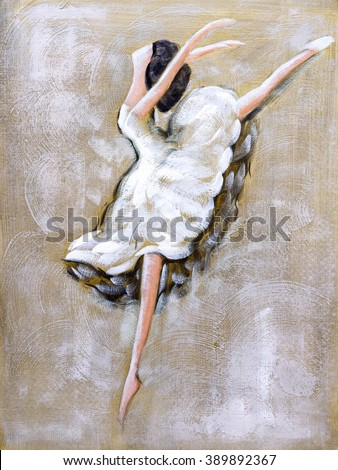 Oil Painting - Ballet Dancing