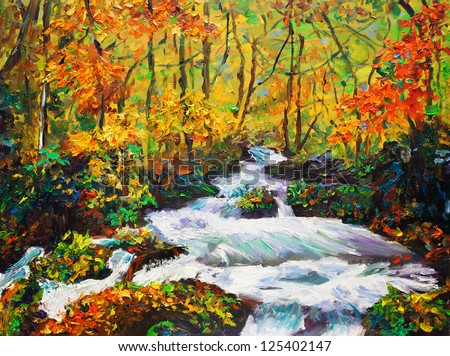 Oil Painting - Maple in Autumn