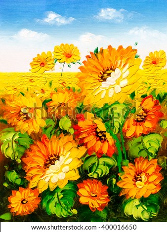 Oil Painting - Sunflower