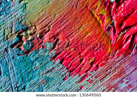 oil painting texture variegated - stock photo