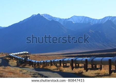 Oil Pipeline on the North Slope of Alaska
