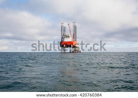 Oil platform in Saudi Arabia - stock photo