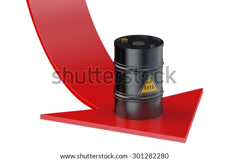 Oil price concept isolated on white background - stock photo