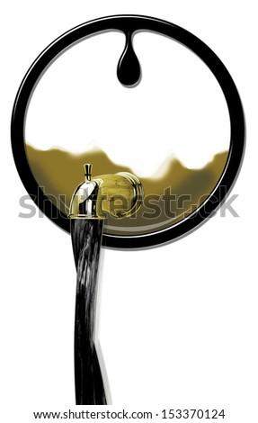 Oil Production flowing strong. - stock photo