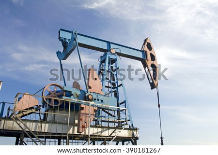 Oil pump and blue sky