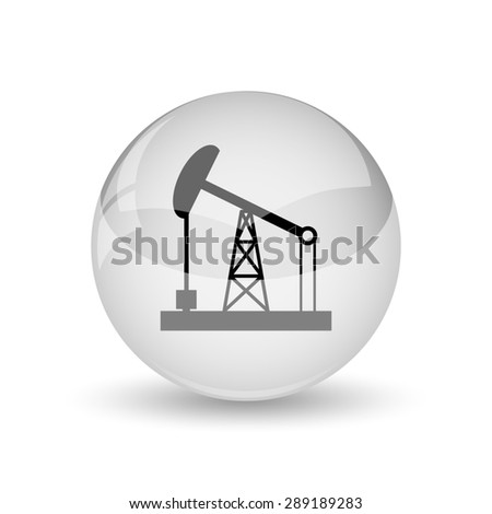Oil pump icon. Internet button on white background