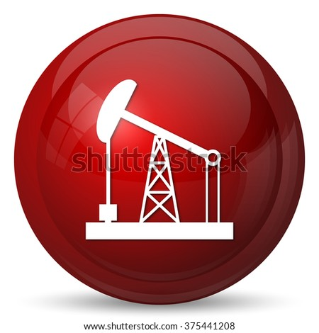 Oil pump icon. Internet button on white background.