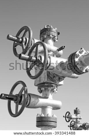 Oil pump latch - stock photo