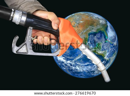 oil pump nozzle ,including elements furnished by NASA - stock photo