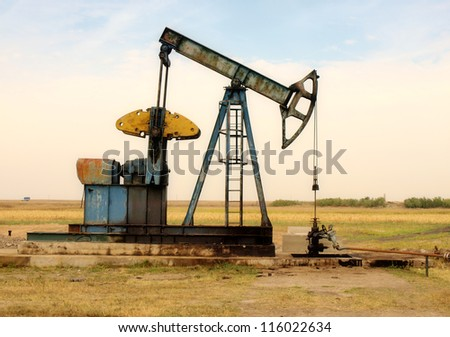 Oil pump. Oil industry equipment. - stock photo