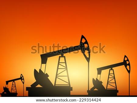 Oil pump oil rig energy industrial machine  - stock photo