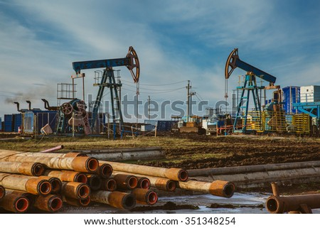 Oil pump oil rig energy industrial machine for petroleum