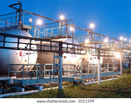 Oil pump station - stock photo