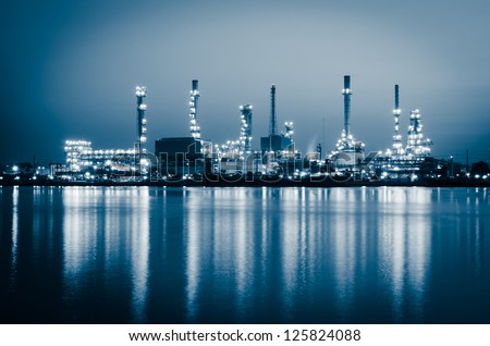 Oil refinery at Bangkok Thailand - stock photo