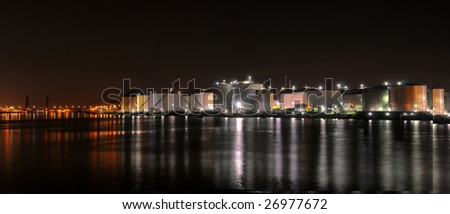 Oil refinery - Chemical industry by night Chemical industry by night - stock photo
