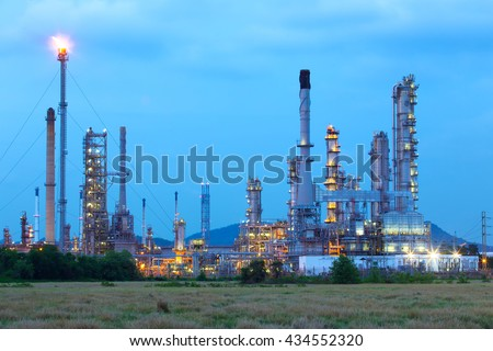 oil refinery factory. - stock photo