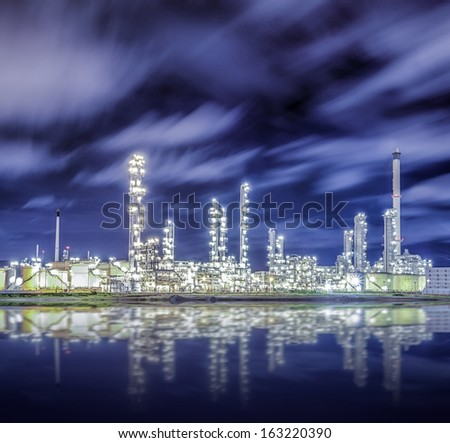 Oil refinery factory for chamical and power energy industrial. - stock photo