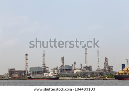 Oil refinery factory in Thailand