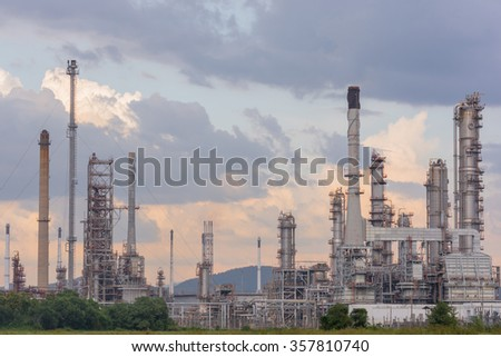 Oil Refinery factory station, Petroleum petrochemical plant