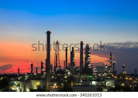 Oil Refinery in Sunset