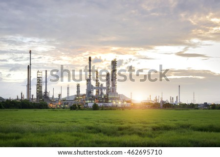 Oil refinery in the morning