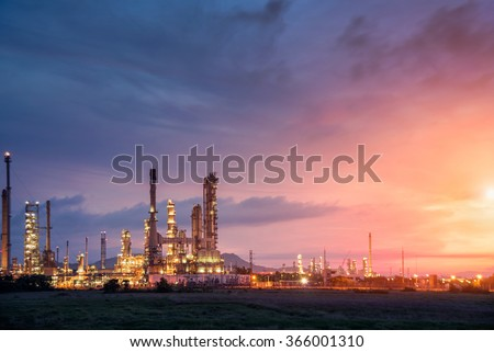Oil refinery industry  - stock photo