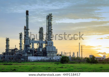Oil refinery industy. - Shallow of focus