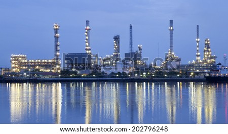 Oil refinery or petrochemical industry in thailand.