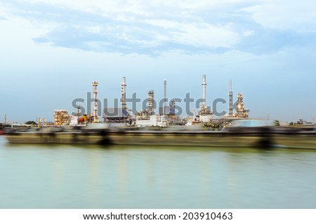 Oil refinery or petrochemical industry in thailand.Edit The vibrant colors