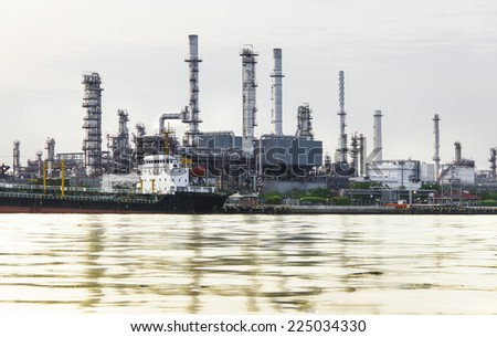 Oil refinery or petrochemical industry in thailand.  for Logistic Import Export background - stock photo